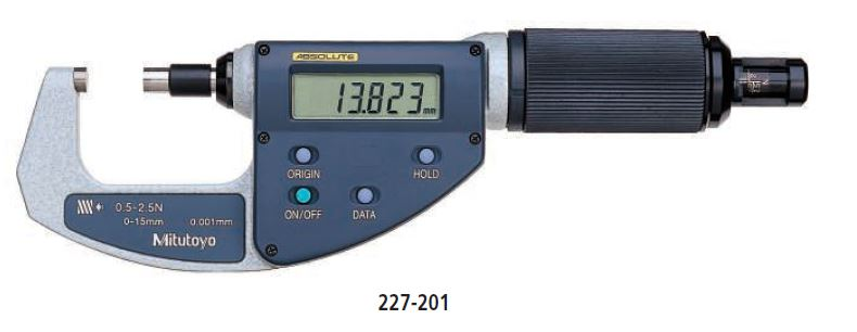 ABSOLUTE Digimatic Micrometer QuickMike series 227 Image
