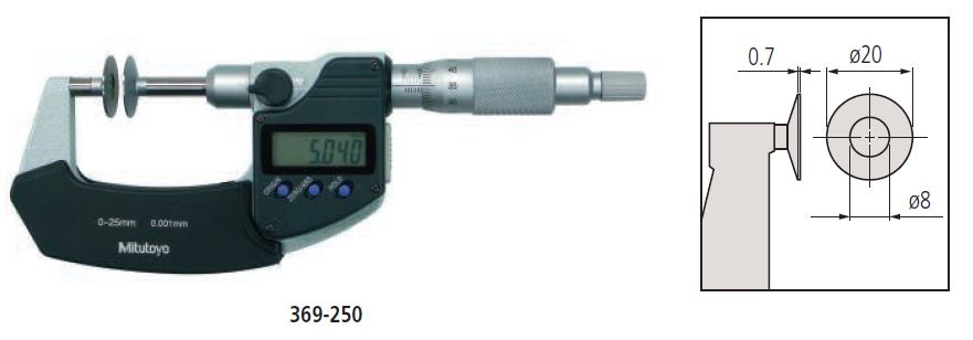 Digimatic Disc Micrometer Non-Rotating Spindle Type series 369 Image