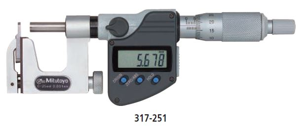 Digimatic Micrometer Interchangeable Anvil Type series 317 Image