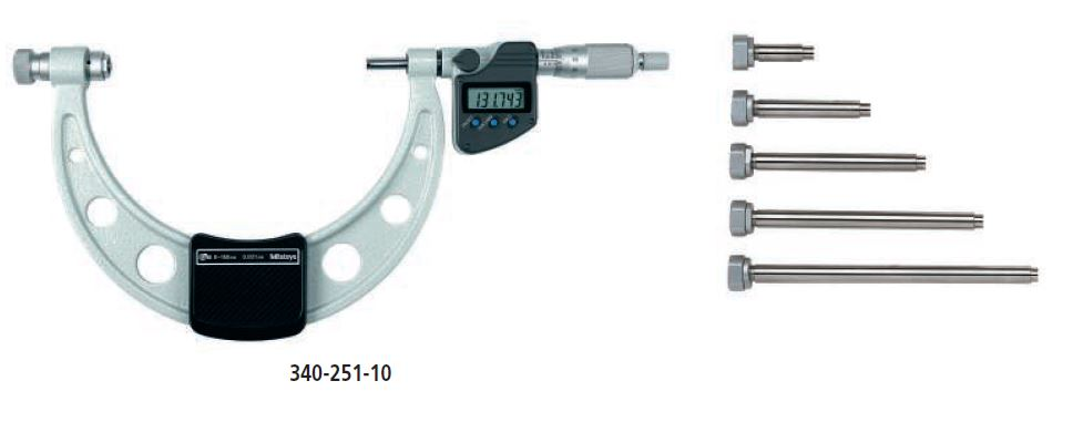 Digimatic Micrometer with Interchangeable Anvils series 340 Image