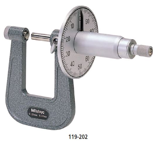 Sheet Metal Micrometer Graduated Dial series 119 Image