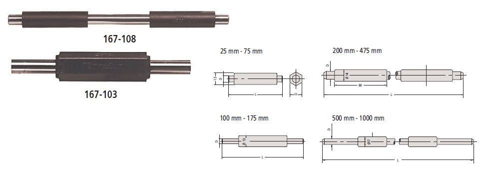Micrometer Setting Standards - 1000 mm series 167 Image