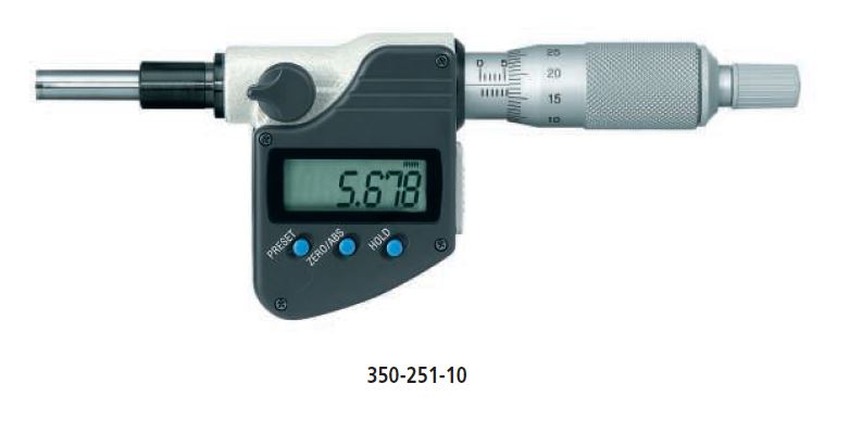 Digital Micrometer Head with 10mm Stem series 350 Image