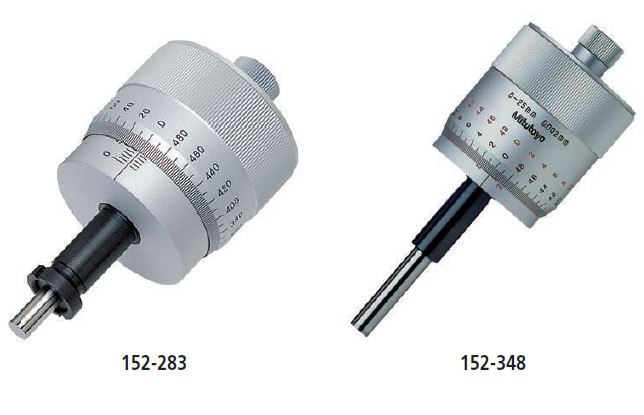 Micrometer Head with Large Thimble series 152 - large thimble type for fine adjustment Image